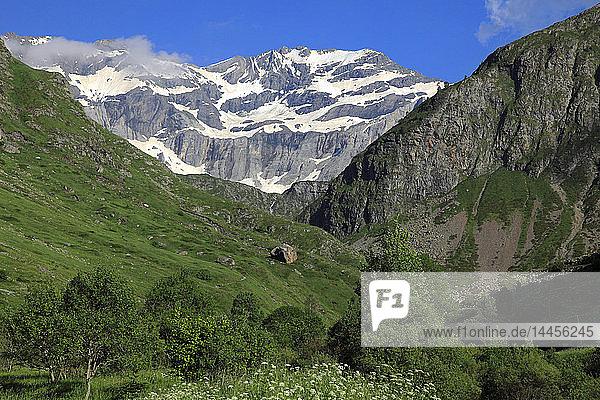 France,  Occitanie (Midi Pyrenees ),  Hautes Pyrenees (65),  Gavarnie Gedre,  Troumouse cirque (Unesco world heritage)