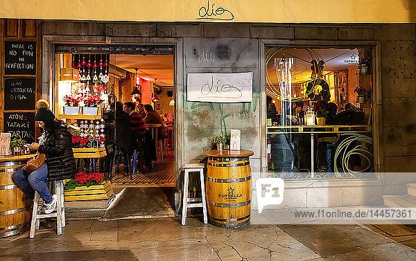 Granada  Spain - January 6  2017 - restaurant Lio  Granada  Province of Granada  Andalusia  Spain  Western Europe