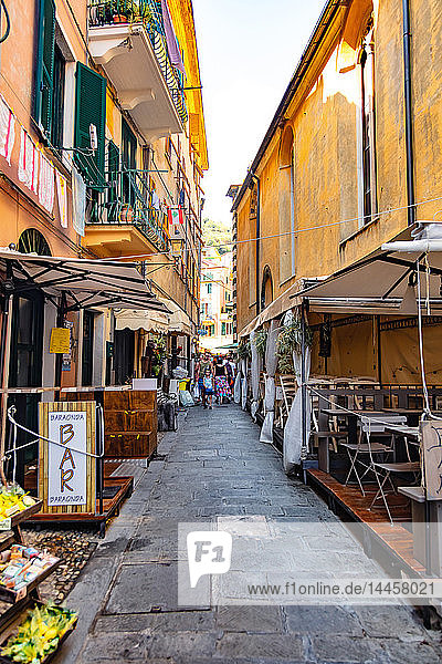 Monterosso  Liguria  Italy - August 09  2018 - view of a village alley