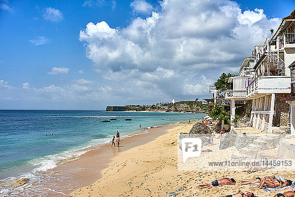 Bingin Beach on Bali  Indonesia  Southeast Asia
