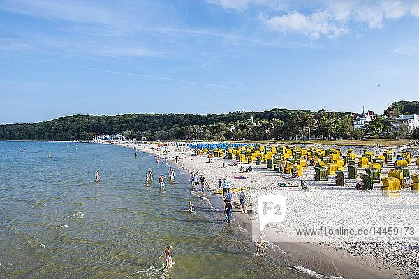 Seaside resort of Binz  Island of Rugen  Mecklenburg-Vorpommern  Germany