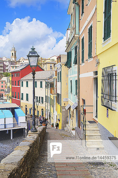 Footpath in the picturesque village of Bogliasco,  Bogliasco,  Liguria,  Italy