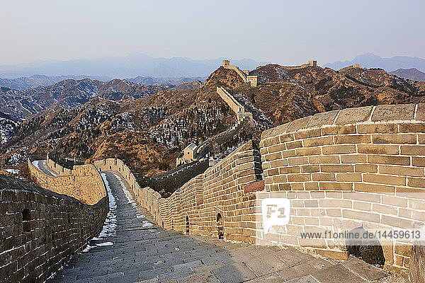Steps and path on the Jinshanling and Simatai sections of the Great Wall of China  Unesco World Heritage Site  China  East Asia