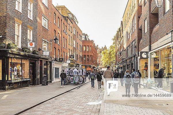 Earlham Street in Covent Garden  London  England