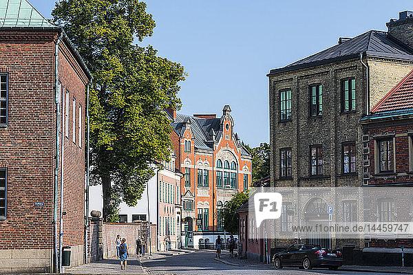 Historical buildings in Lund  Sweden  Scandinavia