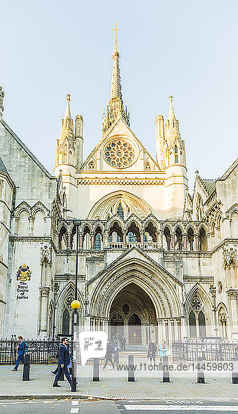 The Royal Courts of Justice in London  England  United Kingdom