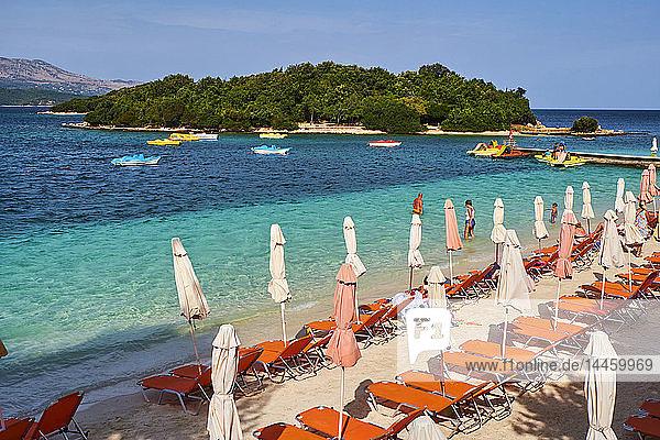 Ksamil Beach  Vlore Province  Albania