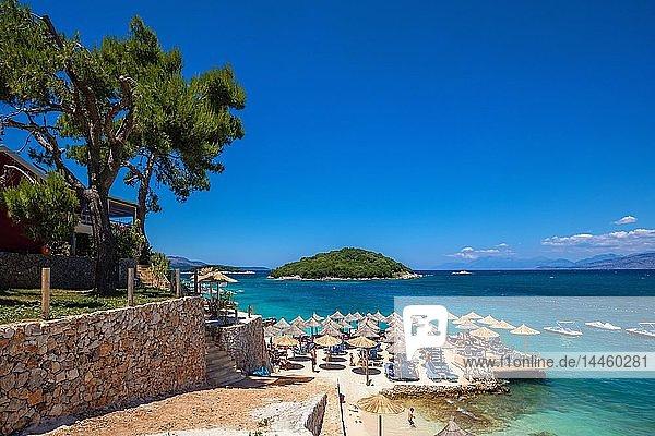 Tre Ishujt Beach  Ksamil  South coast  Albania