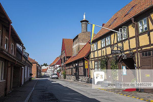 Historic town of Ystad  Sweden  Scandinavia