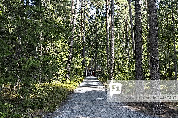 Skogskyrkogarden Cemetery  UNESCO World Heritage Site  Stockholm  Sweden  Scandinavia