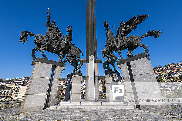 The Monument of Asenevci  Veliko Tarnovo  Bulgaria