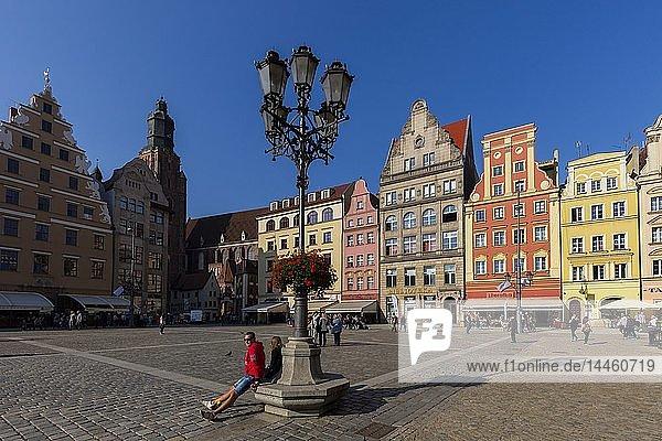 The Market Square  Wroclaw  Poland