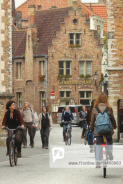Mariastraat  Bruges  Flemish Region  West Flanders  Belgium