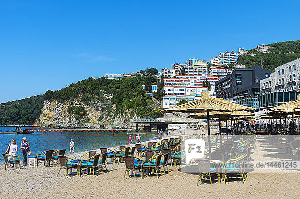 Mogren beach in Budva  Montenegro
