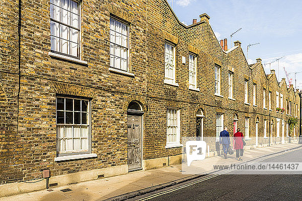Beautifully preserved Georgian terraced houses in Waterloo  London  England  United Kingdom