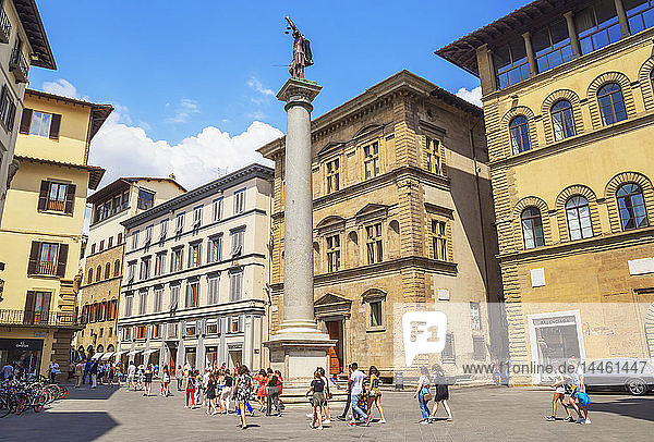 Column of Justice in the Piazza Santa Trinita  Florence  Tuscany  Italy