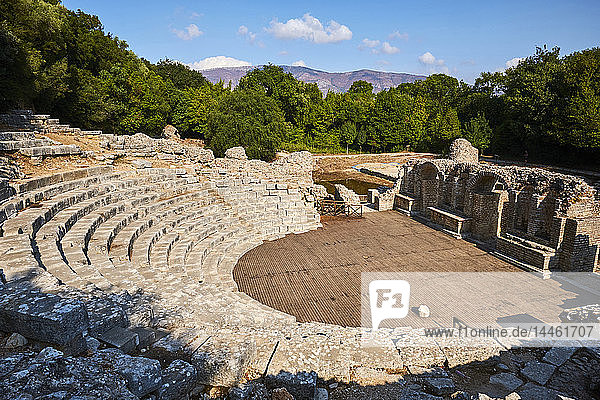 Ruins of the Greek city  Butrint  UNESCO World Heritage Site  Vlore Province  Albania