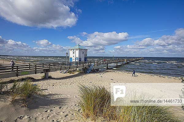 Seaside resort of Lubmin  Mecklenburg-Vorpommern  Germany