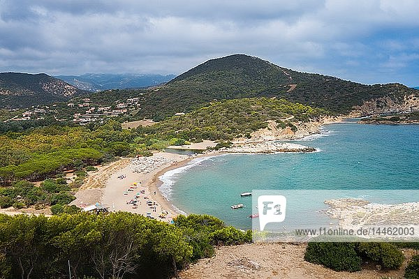Spiaggia di Su Giudeu beach  near the village of Chia  Sardinia  Italy