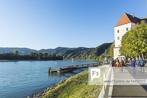 Former monastery in Durnstein  Wachau  UNESCO World Heritage Site  Austria