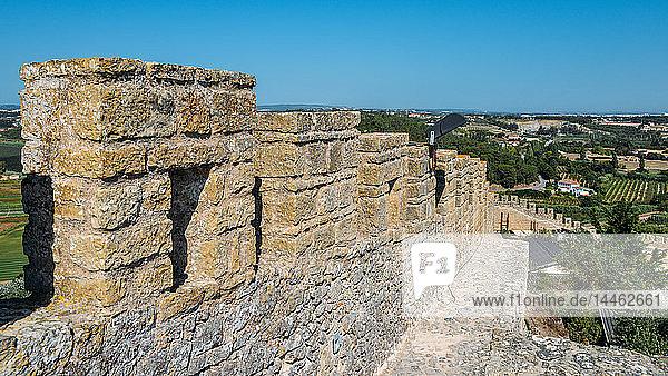 Castle Ramparts at Castelo de Obidos  Oeste  Leiria District  Portugal