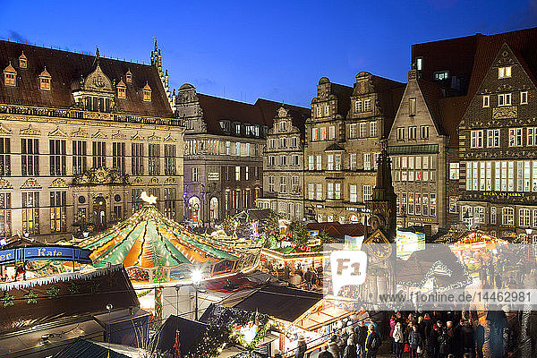 Market Square  Christmas markets  Bremen  Germany