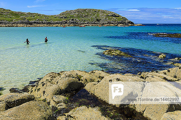 Achmelvich beach in Highland  Scotland