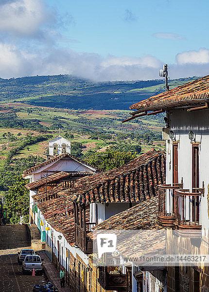 Street of Barichara  Santander Department  Colombia  South America