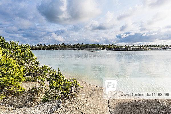 Blue lagoon  Gotland  Sweden  Scandinavia