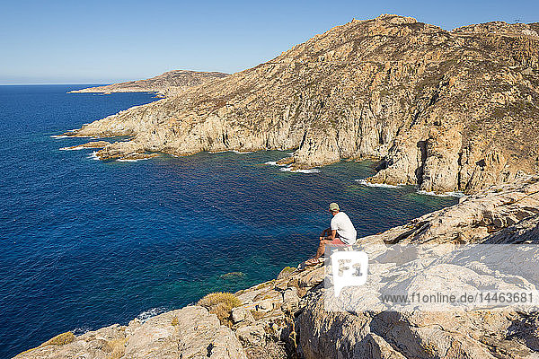 Dramatic coastline in Calvi along the north west coast  Corsica  France  Mediterranean