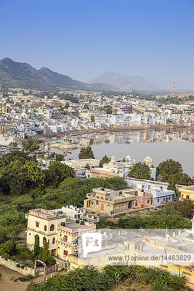 Aerial view of Pushkar  Rajasthan  India