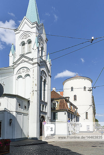 Our Lady of Sorrows Church  Old Town  UNESCO World Heritage Site  Riga  Latvia