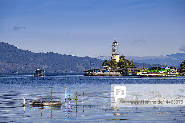 Lighthouse  Parapat  Lake Toba  Samosir Island  Sumatra  Indonesia  Southeast Asia  Asia