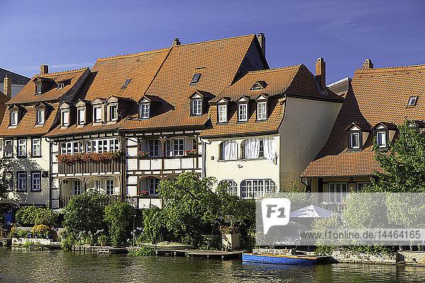 Houses of Klein Venedig (Little Venice)  Bamberg  UNESCO World Heritage Site  Bavaria  Germany