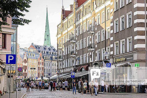 Kungu Street  Old Town  UNESCO World Heritage Site  Riga  Latvia