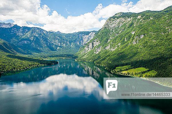 Lake Bohinj and its mountains  Slovenia