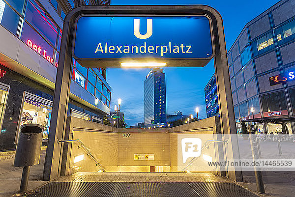 Germany  Berlin  Underground station Alexanderplatz
