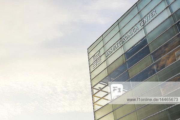 Austria  Linz  part of facade of Ars Electronica Center