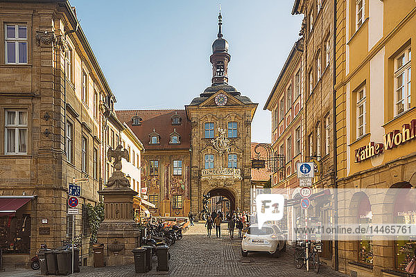 Germany  Bavaria  Bamberg  old town with old town hall