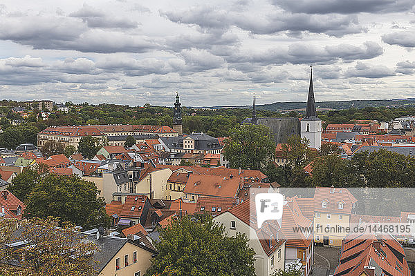 Deutschland  Weimar  Blick von der Jakobskirche auf das Stadtbild