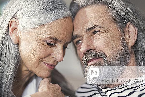 Porträt eines liebevollen älteren Ehepaares