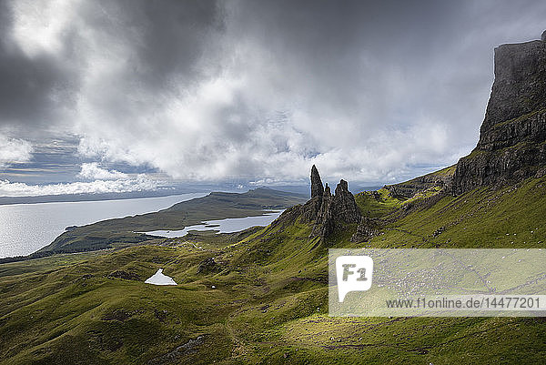 Großbritannien  Schottland  Innere Hebriden  Isle of Skye  Trotternish  Old Man of Storr