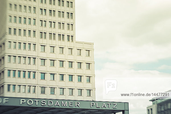 Germany  Berlin  railway station at Potsdam Square with office tower in the background