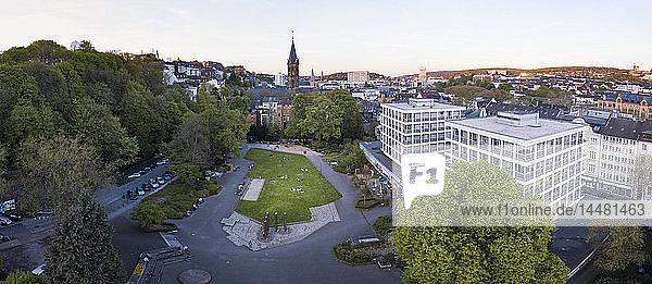 Deutschland  Wuppertal  Eberfeld  Luftbild des Deweerthscher Gartens