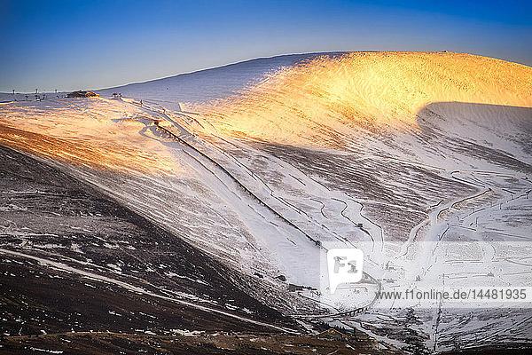 United Kingdom  Scotland  Highlands  Cairngorms National Park  Cairngorm Ski Resort  snow