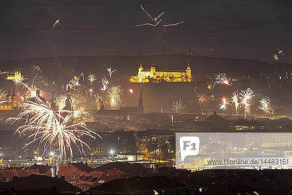 Deutschland  Bayern  Würzburg  Silvester
