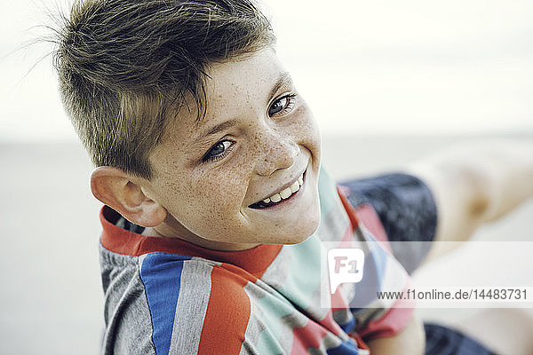 Close-up of boy smiling boy