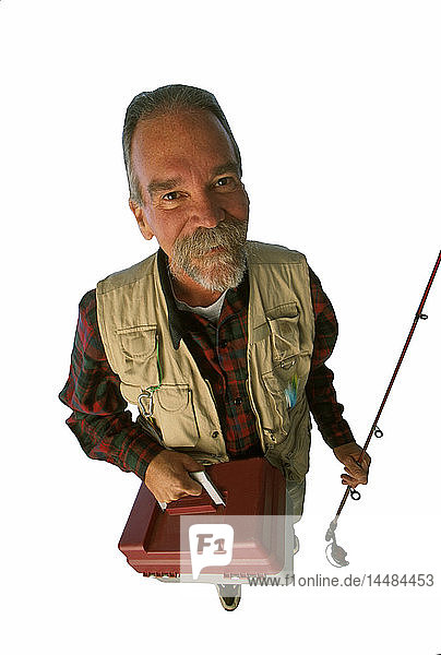 Man with Spin Fishing Gear