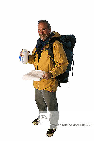 Man with Hiking Gear