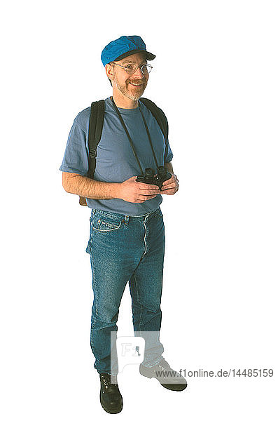Man with Hiking Equipment